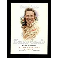 Buy 2007 Topps Allen & Ginter Mario Andretti (Baseball Card) # 19 Dean's Cards 8 - NM MT by Topps