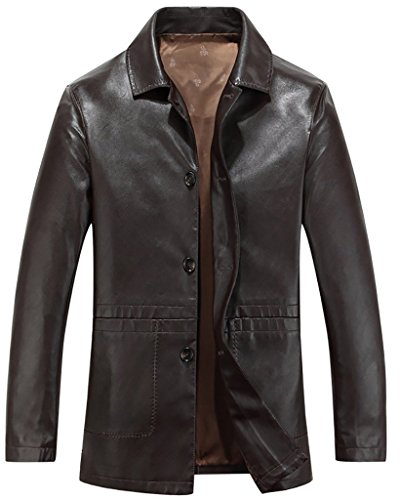 yuguo-mens-turn-down-collar-button-down-pu-leather-jacket