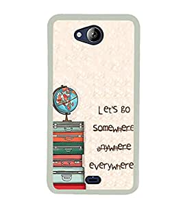 Let's Go 2D Hard Polycarbonate Designer Back Case Cover for Micromax Canvas Play Q355