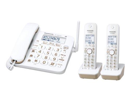 Panasonic コードレス電話機 RU・RU・RU(ル・ル・ル) 子機2台付き 1.9GHz DECT準拠方式 ホワイト VE-GD23DW-W