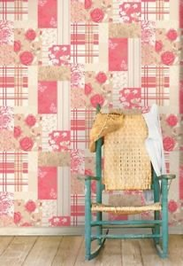 Coloroll Pollyanna Vintage Patchwork Wallpaper Ca from New A-Brend
