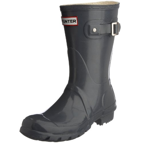 Hunter Women's Original Gloss Short Wellies Graphite W23700 3 UK