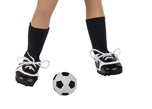 The Springfield Collection by Fibre-Craft Soccer Outfit Accessories, Black and White Shoes, Socks & Ball - 1