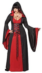 California Costumes Women's Plus-Size Deluxe Hooded Robe Plus, Red/Black, 3X
