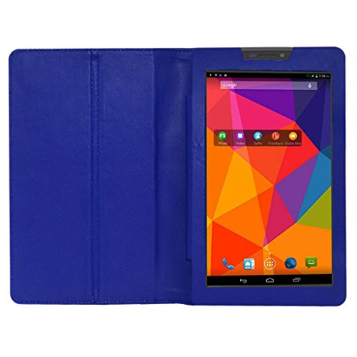Acm Executive Leather Flip Case For Micromax Canvas Tab P480 Tablet Front & Back Flap Cover Stand Holder Blue  available at amazon for Rs.219