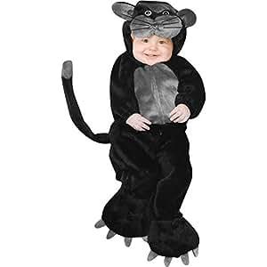 Child's Toddler Black Pussy Cat Costume (1-2T)