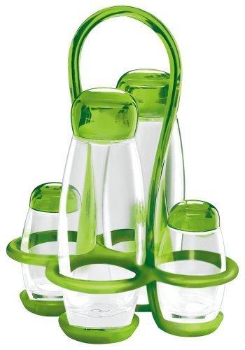 Guzzini GU-2313.00-44 Bolli Cruet Set, 6-Ounce/2-Ounce, Green by MAJESTIC GIFTS INC.