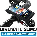 [正規品] BM WORKS(BIKEMATE) SLIM3 (黒, M) 自転車用 スマートフォン ホルダー iPhone 5・4S・4・3GS, Galaxy S3・S2・S マルチケース