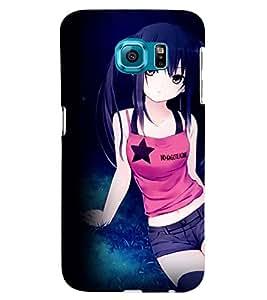 Printvisa Sporty Girl Pic Back Case Cover for Samsung Galaxy Note 5 Edge::Samsung Galaxy Note 5 Edge 2