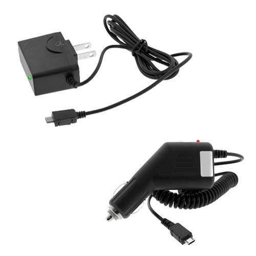 GTMax Universal Rapid Car Charger + Universal Home Travel Charger for T-Mobile Blackberry Bold 9780