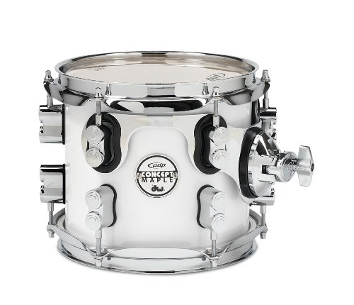 pacific-drums-pdcm0708stpw-7-x-8-inches-tom-with-chrome-hardware-pearlescent-white