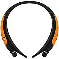 LG HBS-850 Over-Ear Wireless Bluetooth Headphones (Orange)