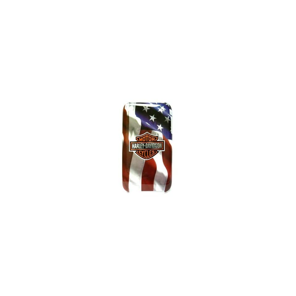 Iphone 3g & 3gs Officially Licensed Harley Davidson Flag Phone Cover/faceplate