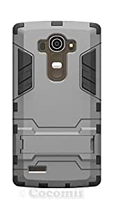 LG G4 Case, Cocomii® [HEAVY DUTY] Iron Man Case *NEW* [ULTRA WAR ARMOR] Premium Shockproof Kickstand Bumper [MILITARY DEFENDER] Full-body Rugged Dual Layer Cover (Gray) ★★★★★