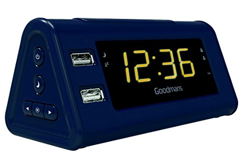 Goodmans USB FM Radio with Alarm Clock
