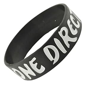 Black And White I Love One Direction Wristband I Love One Direction Bracelet 1 Wide 7 from Hinky Imports