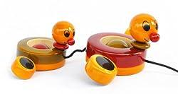 Maya Organic wooden toy - Duby & Duba (paddling ducks)