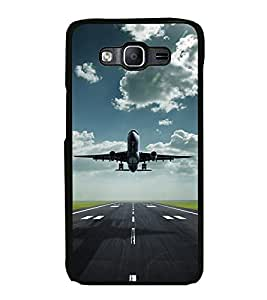Fuson Premium 2D Back Case Cover Aeroplane With Green Background Degined For Samsung Galaxy On7::Samsung Galaxy On7 G6000FY