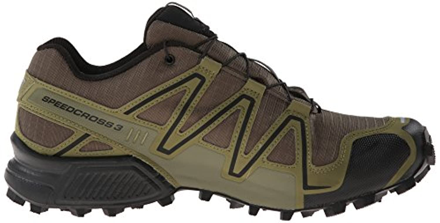 brand new e82b4 3bce3 ... Salomon Men s Speedcross 3 GTX Running Trail Shoe, Dark Khaki Black Iguana  Green ...