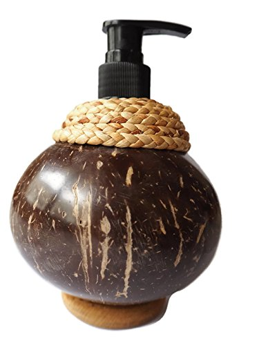 Hand soap dispenser pump Clyssic design form coconut shell (Bronze Straw Dispenser compare prices)