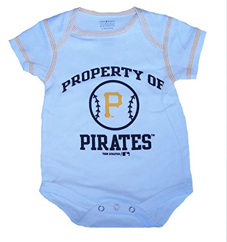 Property Of Pittsburgh Pirates Infant Onesie Size 12 Month Bodysuit - White Creeper