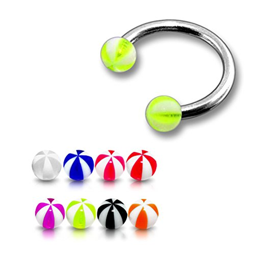 10-pieces-mix-color-316l-surgical-steel-circular-barbell-with-3mm-uv-watermelon-ball