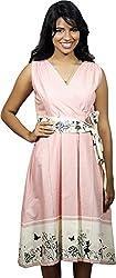 BAJA Women's Regular Fit Dress (PKDR, Pink , M)