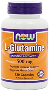 NOW Foods L-Glutamine 500mg, 120 Capsules,