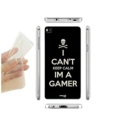 CASELABDESIGNS COVER CUSTODIA MORBIDA I AM A GAMER PER HUAWEI ASCEND P8 LITE SMART TPU - SCOCCA IN SILICONE PROTETTIVA ANTIURTO