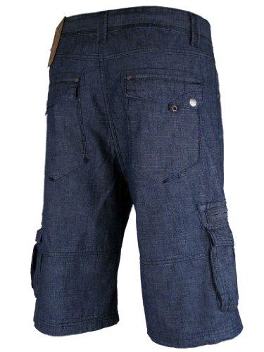 Mens Denim Jean/ Cargo Shorts Dark Wash 'Tokyo Laundry'