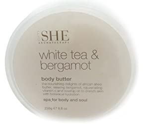 Om She Body Butter White Tea & Bergamot + Vegan Organic Lip Balm in Spearmint