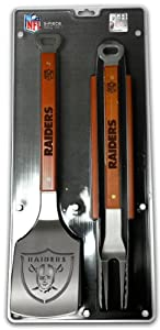 SPORTULA 3-PIECE BBQ SET - OAKLAND RAIDERS by SPORTULA PRODUCTS