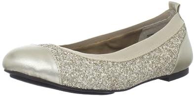 Me Too Women's Kaden Flat,Platinum Glitter,6 M US