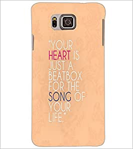 PrintDhaba Quote D-3324 Back Case Cover for SAMSUNG GALAXY ALPHA (Multi-Coloured)