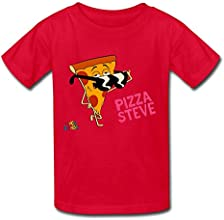 O Collar Uncle Grandpa Pizzasteve Kids Boys Girls Youth T-Shirt White