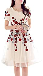 Rozdeal Designer Latest White & Red Colour Semi Stitched Western Wear