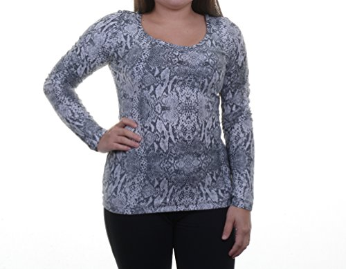 Guess Long-Sleeve Lace-Up Printed Top Size S