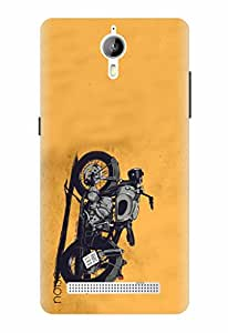 Noise Designer Printed Case / Cover for Panasonic P77 4G / Automobiles / Bike Design