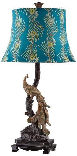 Exotic Plumage Peacock Table Lamp front-1068311