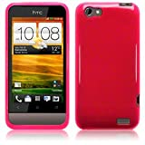 Ownstyle4you Protective Silicone TPU Case Skin Cover for HTC One V incl. Screenguard TPU Pink