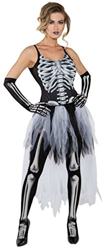 Underwraps Womens Sexy Skeleton Scary Theme Party Fancy Halloween Costume