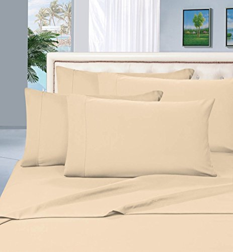1-Rated-Best-Seller-Luxurious-Bed-Sheets-Set-on-Amazon-Elegant-Comfort-1500-Thread-Count-WrinkleFade-and-Stain-Resistant-3-Piece-Bed-Sheet-set-Deep-Pocket-HypoAllergenic-TwinTwin-XL-Cream