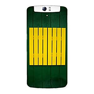 Yellow Green Squares Back Case Cover for Oppo N1