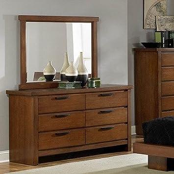 Homelegance Kobe 6 Drawer Dresser In Medium Oak