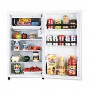 SANYO SR-3620W Counter High Refrigerator - 3.6Cubic ft. - Manual De-frost - White