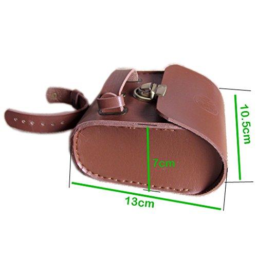 Handmade Leather PU England Vintage Bike Seat Saddle Tail Tools Bag, to match BROOKS Cushion Size 13*10.5*7cm 4