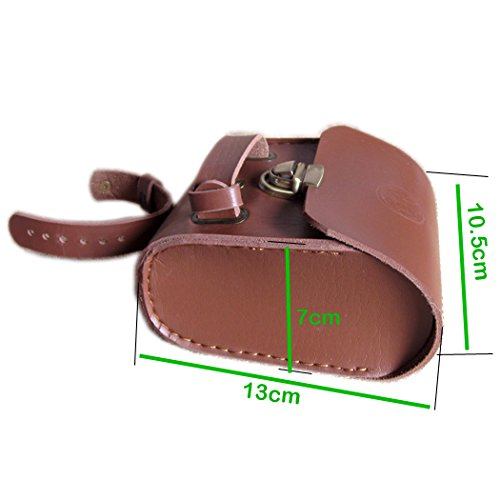 Handmade Leather PU England Vintage Bike Seat Saddle Tail Tools Bag, to match BROOKS Cushion Size 13*10.5*7cm 4