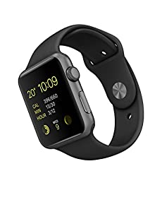 Apple 42 mm Sports Watch with Aluminum Case - Space Grey/Black