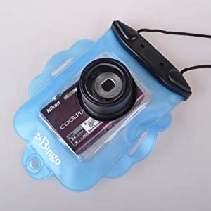 Neewer Blue Underwater Camera Waterproof Dry Case Jacket Lens Diving wp08 For Medium-sized Cameras