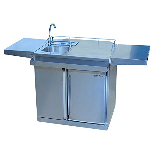 Outdoor Kitchen Cart & Beverage Center with Fridge & Sink (Outdoor Beverage Center compare prices)